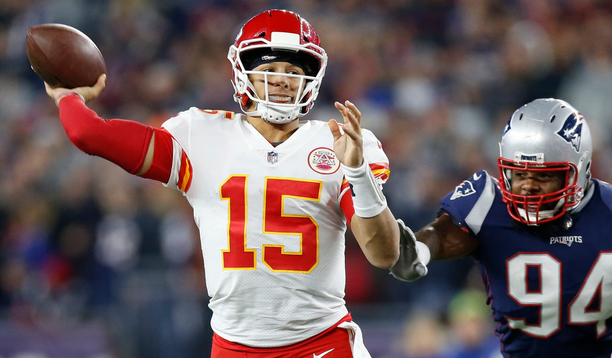 Can Patrick Mahomes and the Chiefs avenge their Week 6 loss to the Patriots?