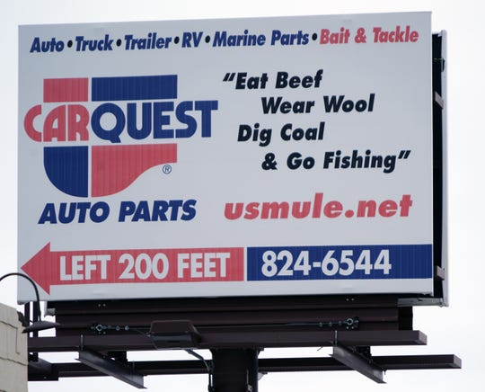 A billboard in downtown Craig, Colorado, suggests key priorities for locals.