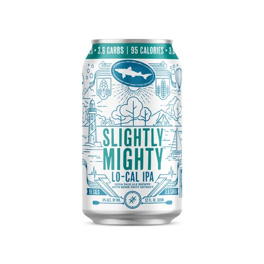 Dogfish Head Craft Brewery's new Slightly Mighty IPA, weighs in at 95 calories and 3.6 carbs, slightly more than Michelob Ultra.