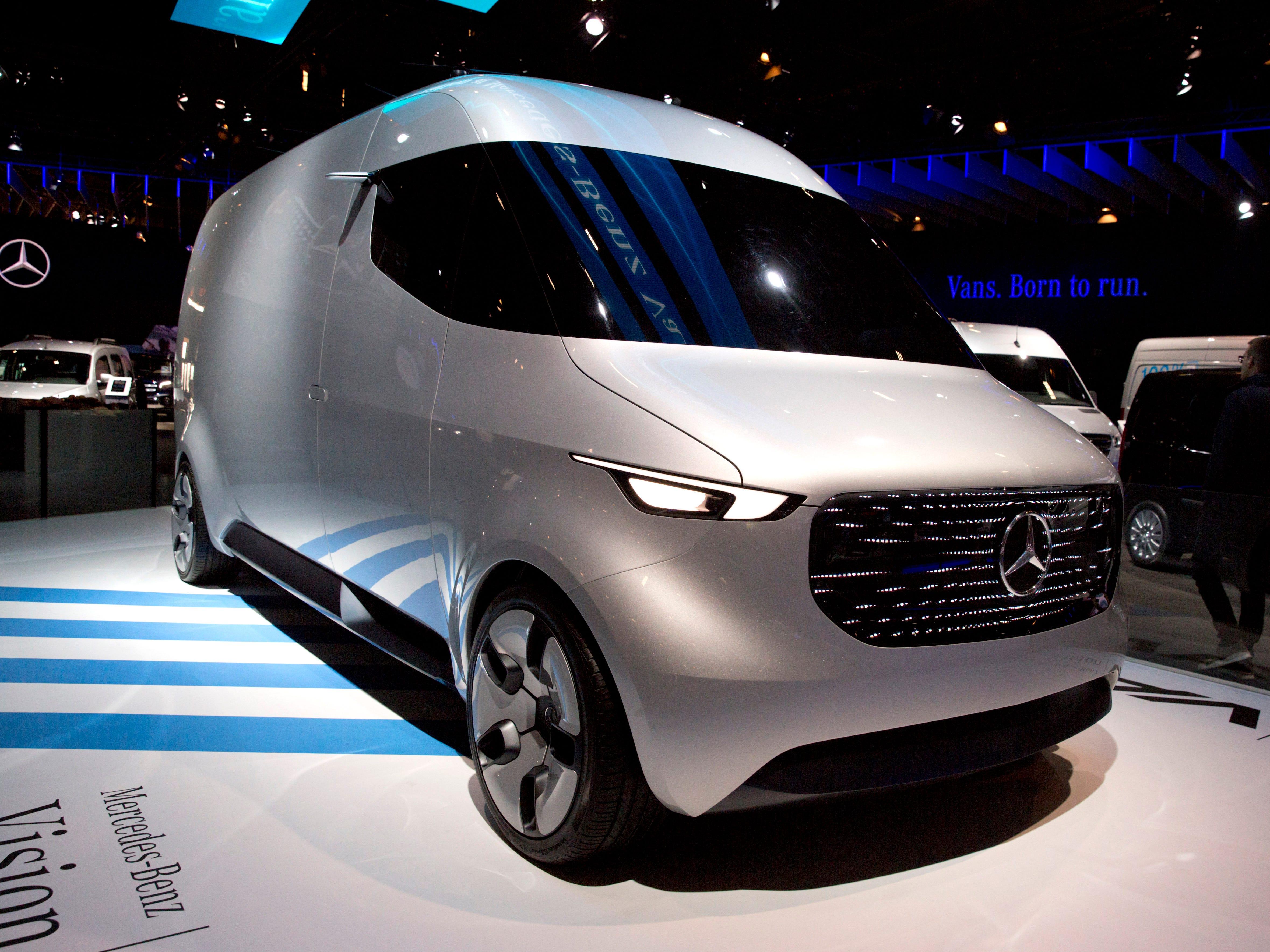 The Mercedes Benz Vision van.
