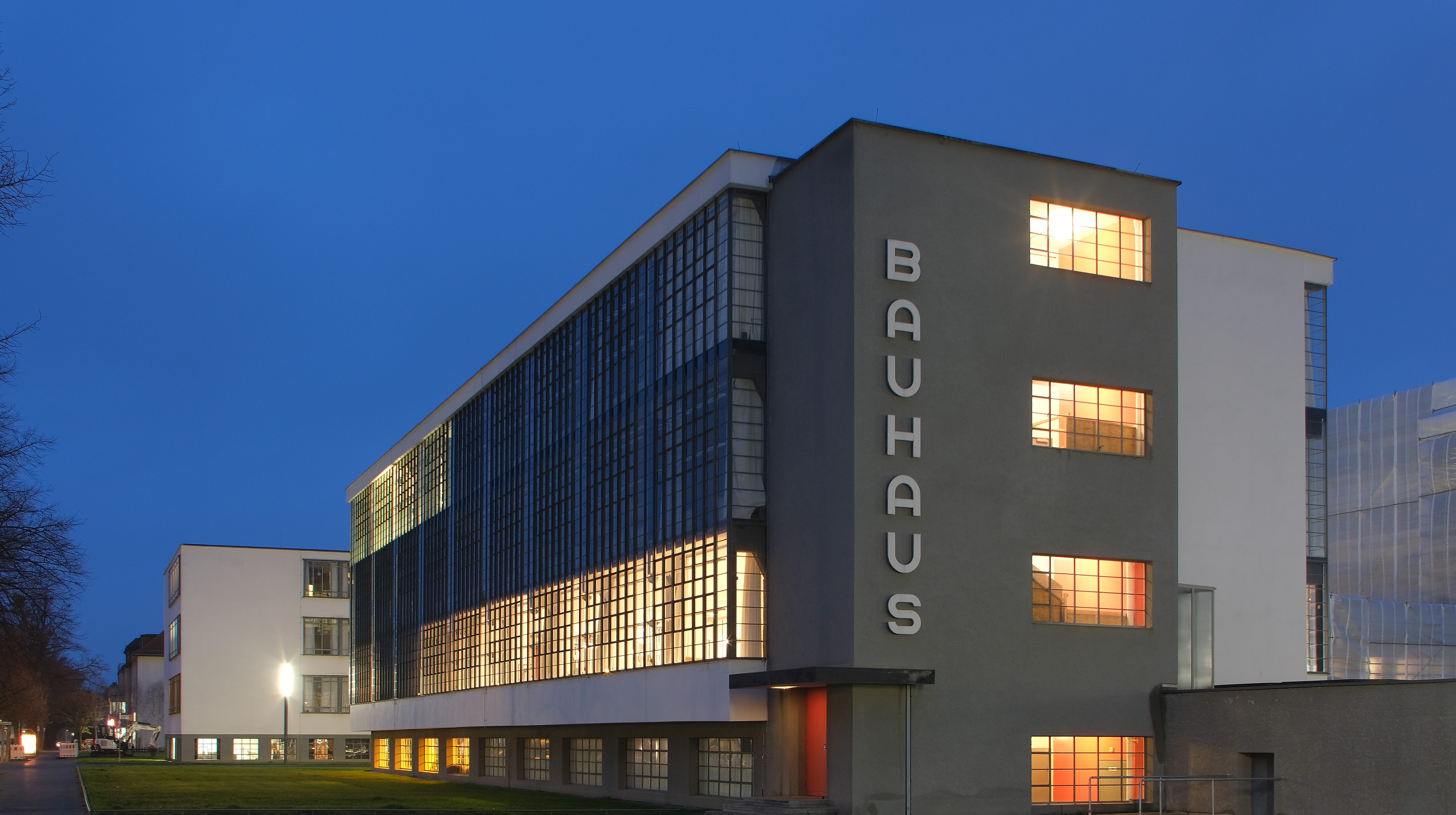 This is the building that housed the Bauhaus art school from 1925 to 1932 and is today a museum in Dessau, Germany. Germany is celebrating the 100th anniversary of the founding of the Bauhaus movement this year.