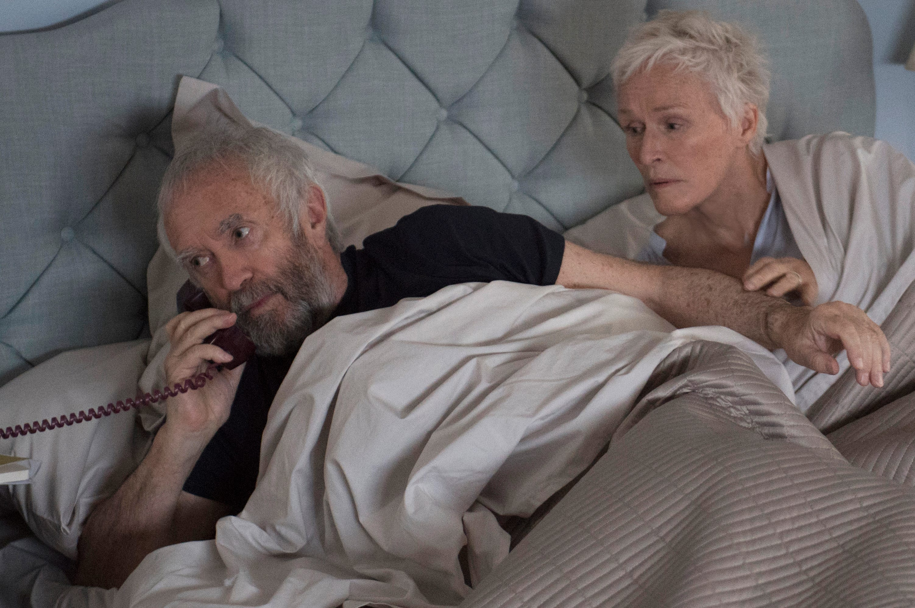 """Left to right: Jonathan Pryce as Joe and Glenn Close as Joan in the motion picture """"The Wife."""""""