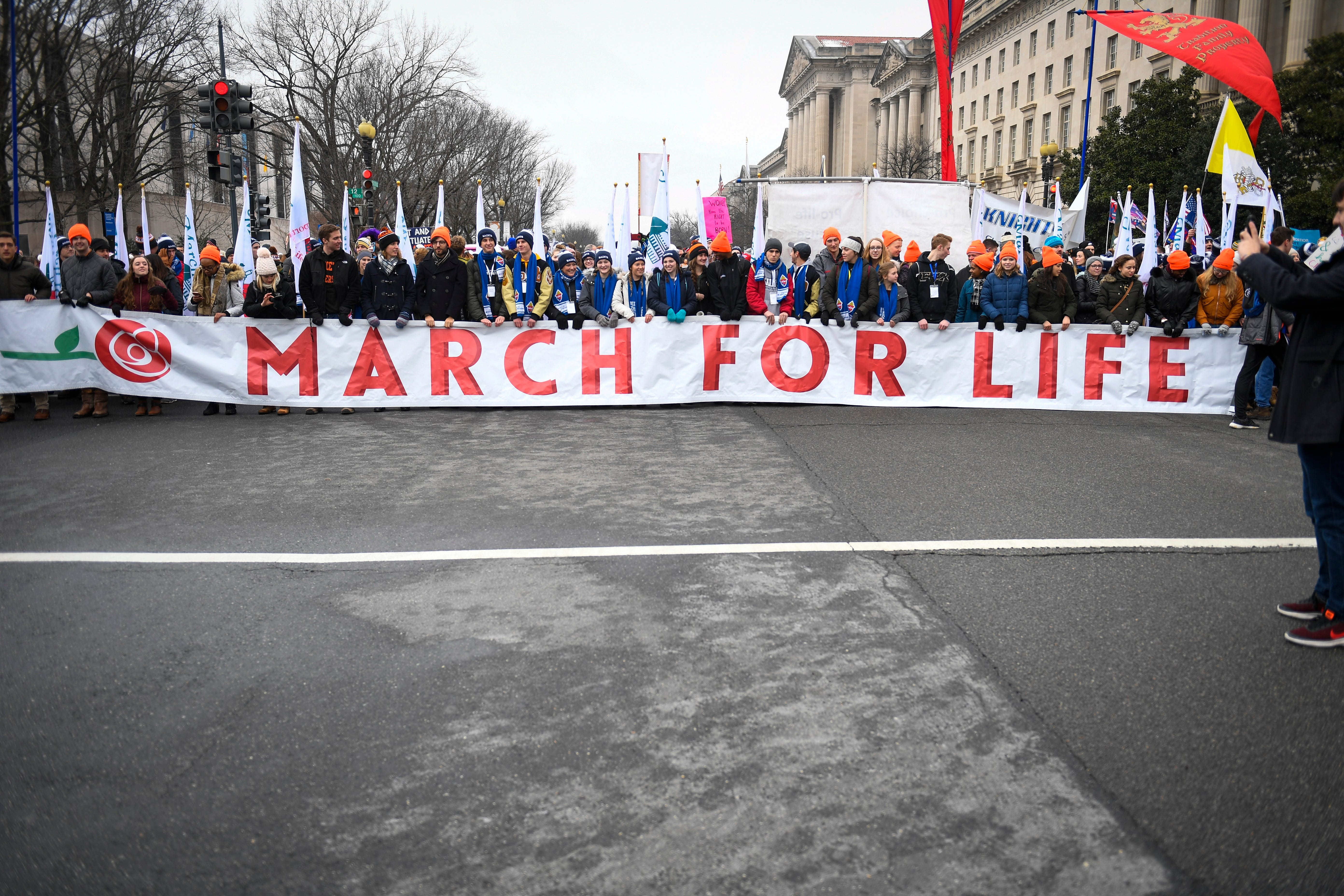 Thousands from around the country joined the 46th March for Life on Jan. 18, 2019 in Washington.