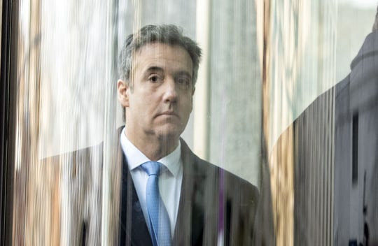 Michael Cohen arrives at US Federal Court in New York, Dec. 12, 2018.