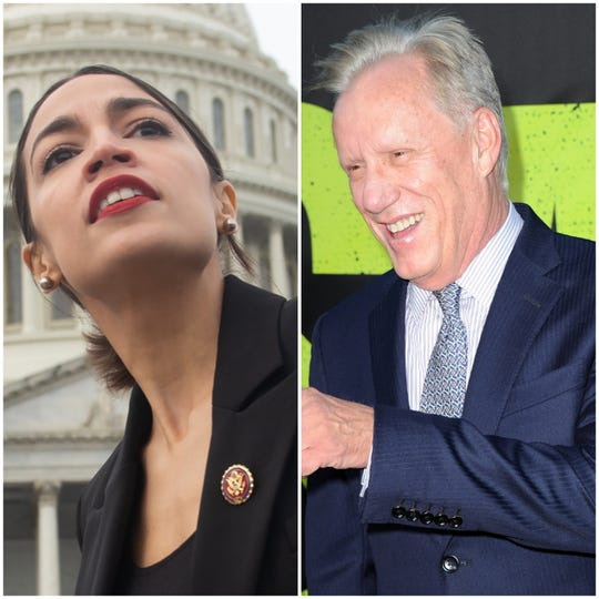 "Actor James Woods has called first-term Congresswoman Alexandria Ocasio-Cortez ""the most dangerous person in America."" (Photo: AFP/Getty Images)"
