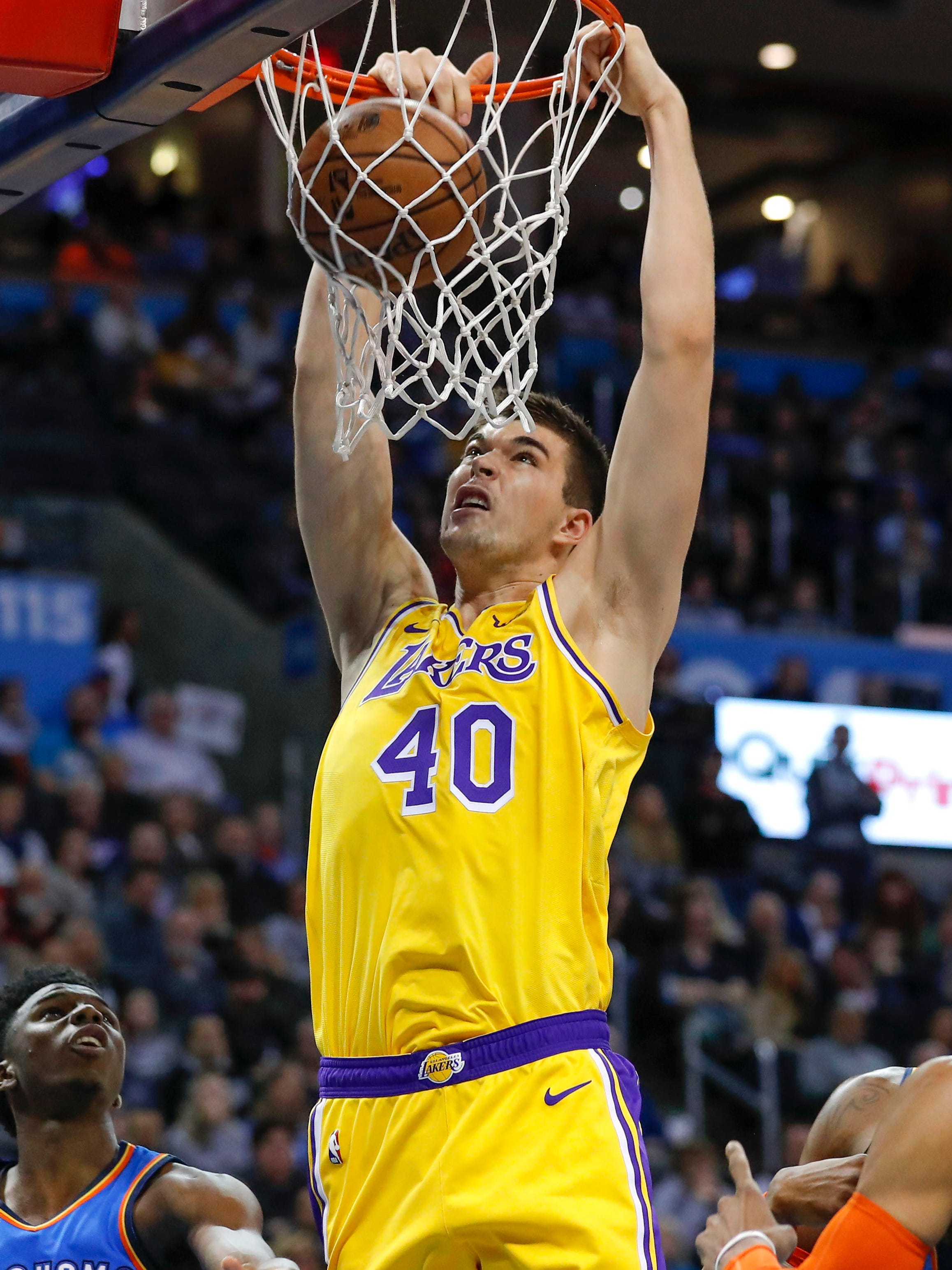 Ivica Zubac scored a career-high 26 points off the bench for the Lakers.