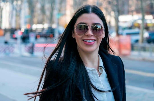 "The wife of Joaquin ""El Chapo"" Guzman, Emma Coronel Aispuro, arrives at the US Federal Courthouse in Brooklyn on January 14, 2019 in New York. (Photo by Don EMMERT / AFP)"
