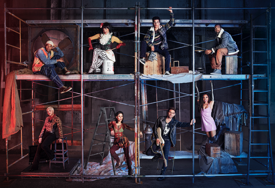 RENT: Top L-R to Bottom L-R: Brandon Victor Dixon as Tom Collins, Valentina as Angel Dumont Schunard, Jordan Fisher as Mark Cohen, Mario as Benjamin Coffin III, Kiersey Clemons as Joanne Jefferson, Vanessa Hudgens as Maureen Johnson, Brennin Hunt as Roger Davis and Tinashe as Mimi Marquez in RENT airing Sunday, Jan. 27 (8:00-11:00 PM ET LIVE/PT TAPE-DELAYED) on FOX.