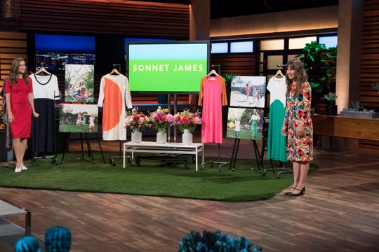 Sonnet James sells comfy dresses designed by Whitney Lundeen, a California mom who markets them as a way to spend more time with her kids.