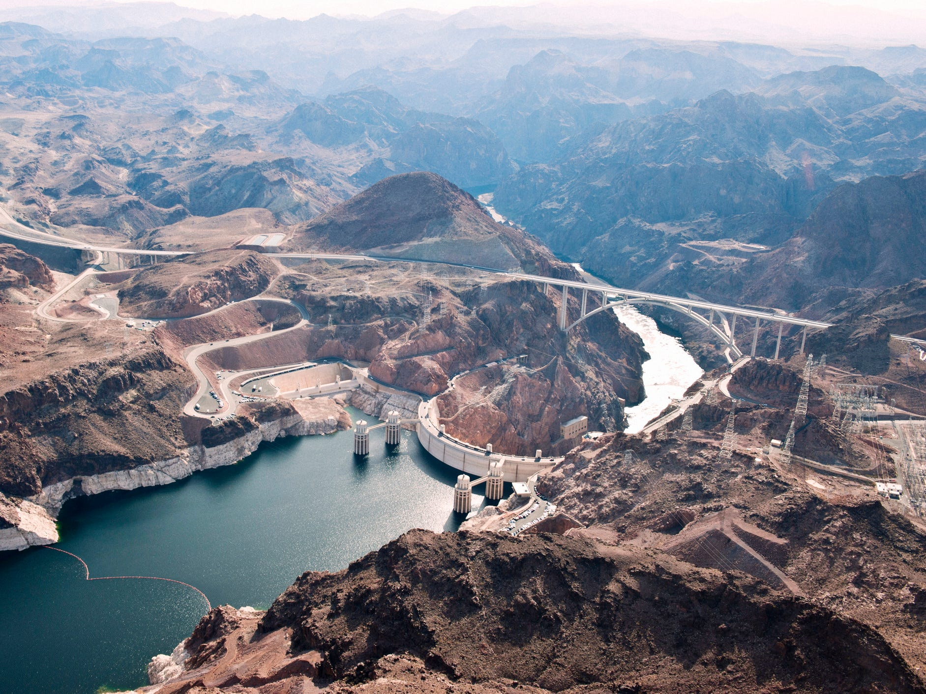 Hoover Dam in Nevada.