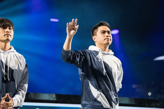 "Jake ""Xmithie"" Puchero at the 2018 North American LCS Finals."