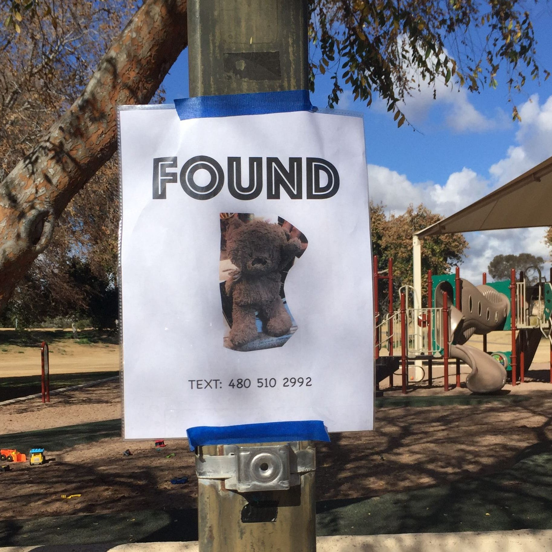 Mom-of-five Gina Horne Bernbaum posted flyers for a worn stuffed animal she found at an Arizona park because she knows firsthand how the loss of a beloved toy can affect a child.