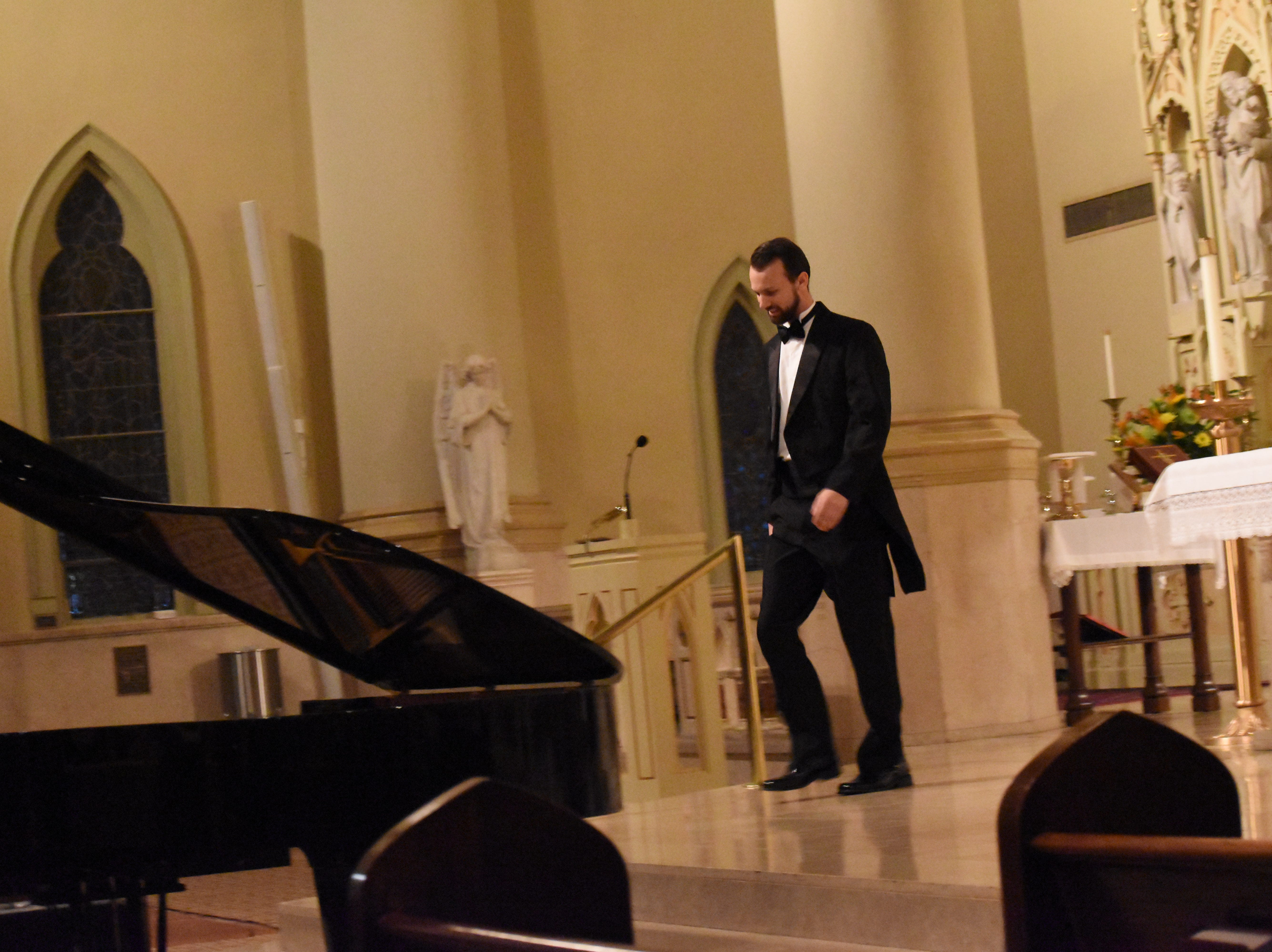 Pianist Joseph Kingma performed Mozart, Chopin and Mendelssohn at the St. Francis Xavier Cathedral Music Series held Friday, Jan. 18, 2019. Kingma is an assistant professor of piano and coordinator of the keyboard division at Palm Beach Atlantic University. He has been invited to teach and perform at colleges and universities across the country. Kingma also judges competitions. The music series is a free event. The next concert series is set for Thursday, March 28 featuring the Baton Rouge Early Vocal Ensemble.