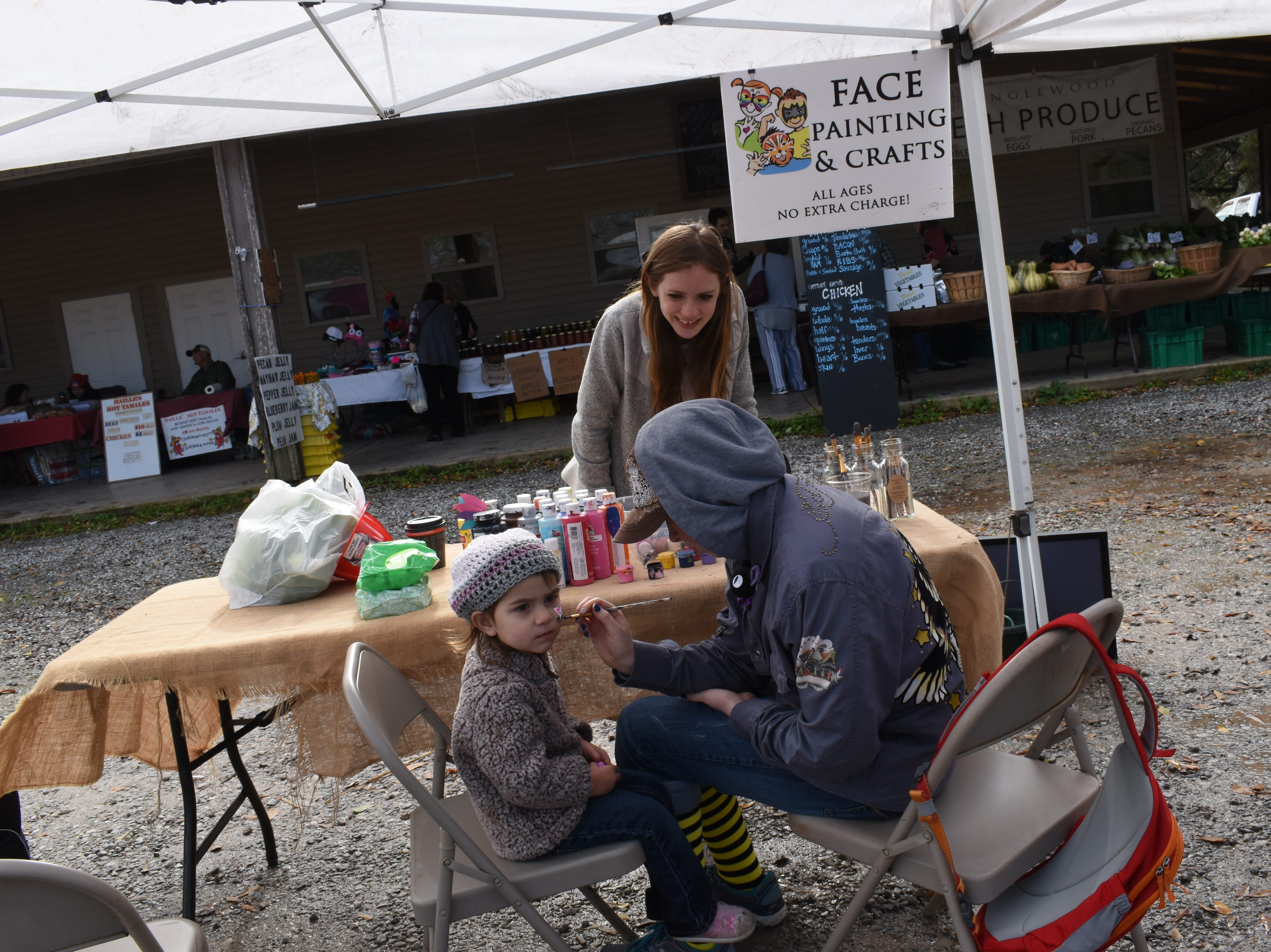 Inglewood Harvest Barn Market kicked off their Harvest Barn Kids Club at their weekly Saturday market on Jan. 21, 2019. The first 20 children to show up at each market get $5 worth of tokens that can be spent with vendors at the market that day. To celebrate the launch of the new kids' club, Dirty Dog,  Inc. brought dogs available for adoption; Hayes E Daze Ranch provided pony ride; a Rapides Parish District fire engine and firefighters were on hand; and face painting was offered. Other activities are planned for future kids' clubs. Inglewood Harvest Barn Market holds their Saturday market from 8 a.m. to noon at 6233 Old Baton Rouge Highway.