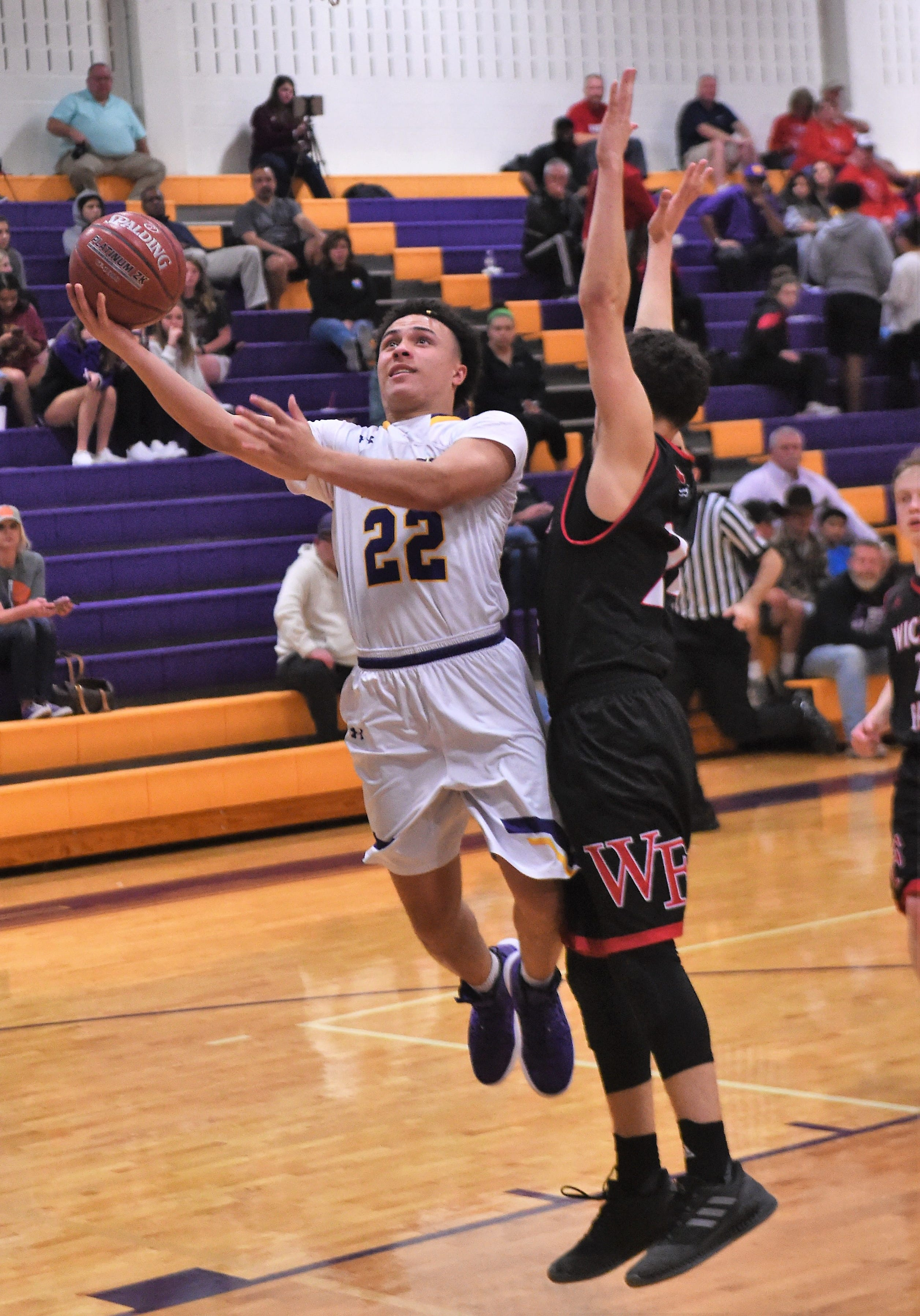 Wylie's Shayden Payne (22) is one of several players getting their first real playoff experience on Tuesday as the Bulldogs face Lubbock Monterey at 7 p.m. at Borden County High in a Region I-5A bi-district playoff.
