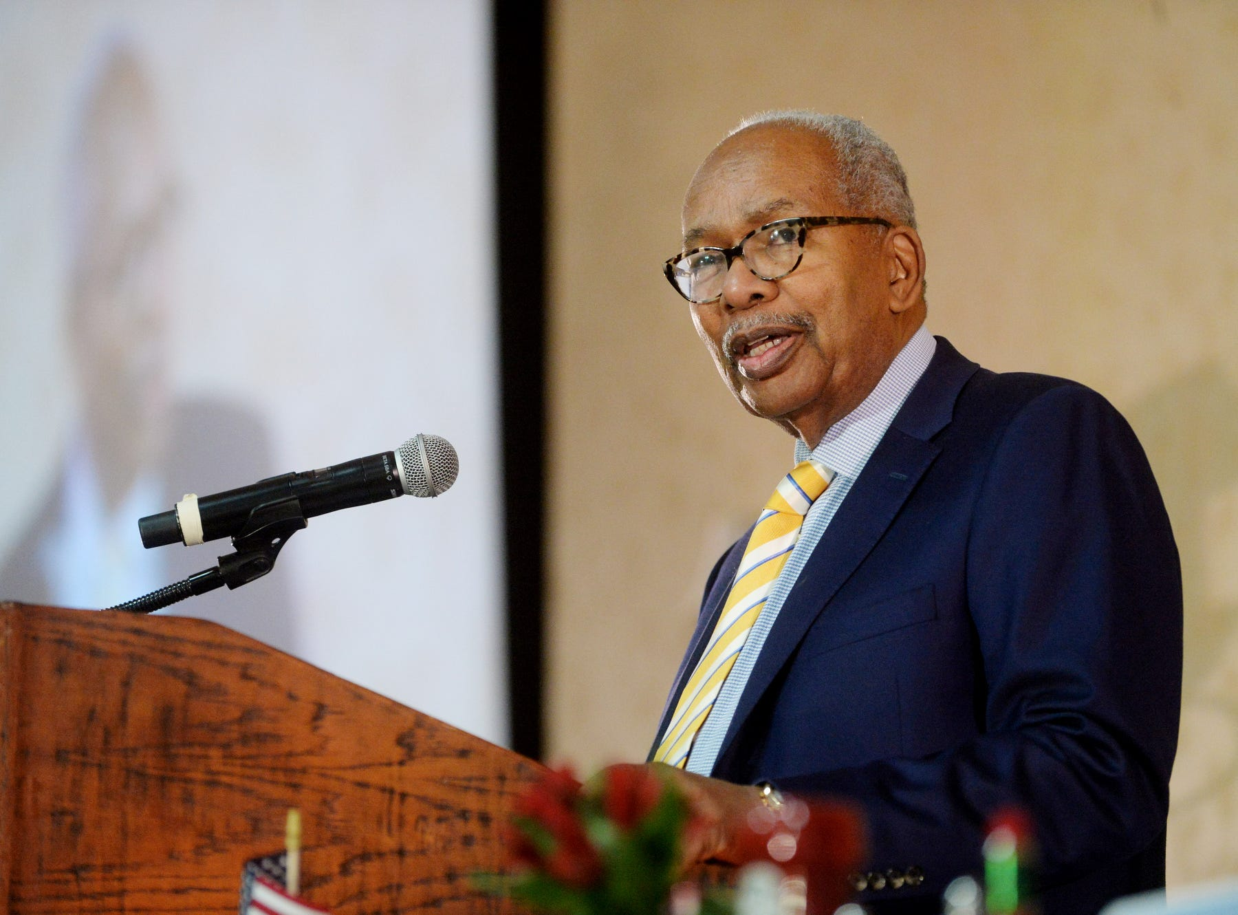 Ernest Green, one of the Little Rock Nine, was the keynote speaker at the 38th annual Martin Luther King Jr. Prayer Breakfast in Asheville Jan. 19, 2019