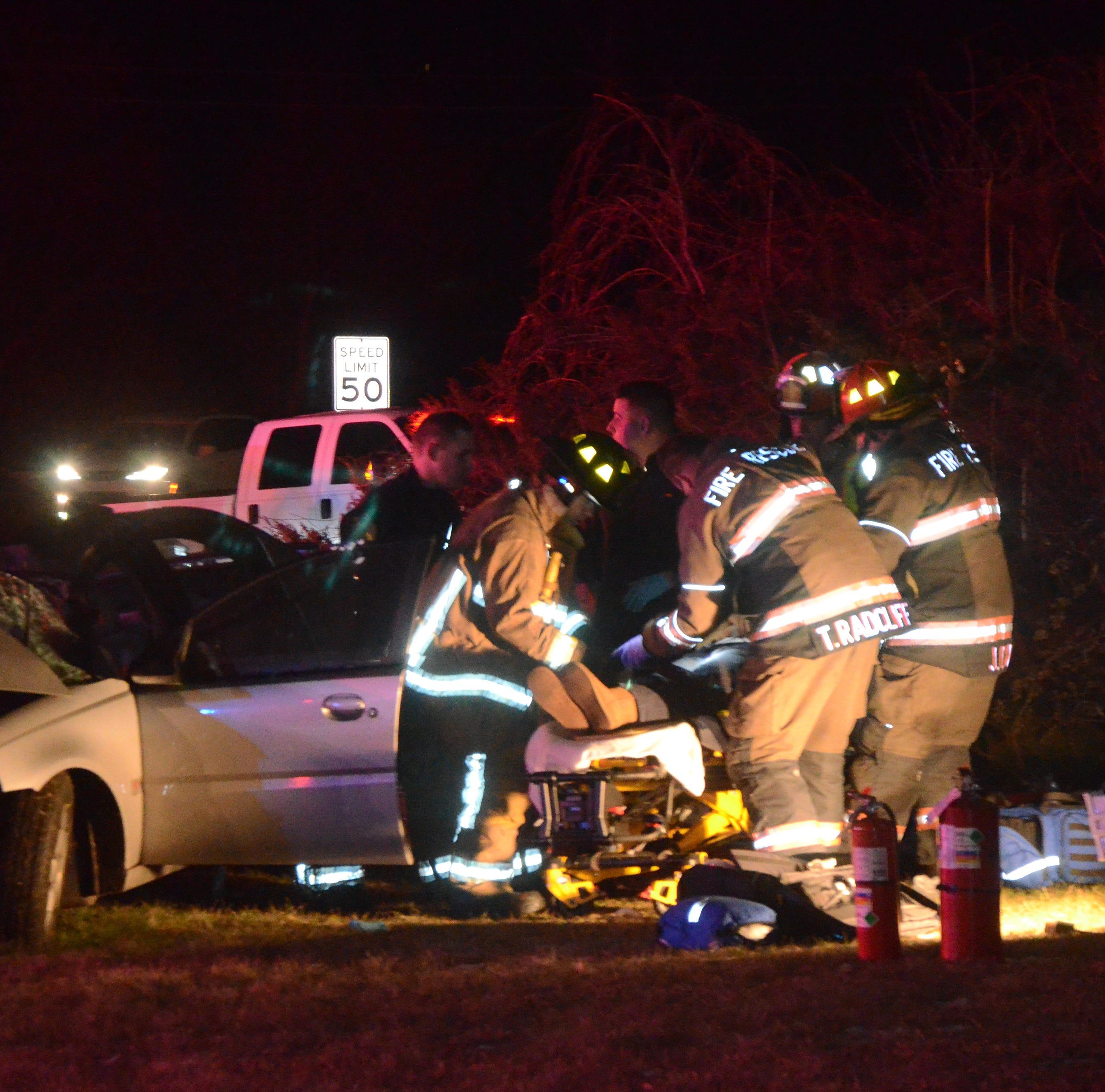 Three women taken to hospital after police pursuit, crash