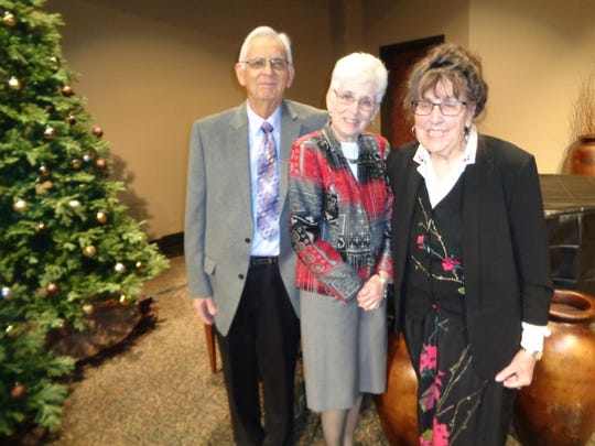 From left, Bob Johnson, his wife, Joanna, and Emily Hyle are members of In His Grip, a cancer support group at First Baptist Church of Johnson City. Hyle co-founded the group, while the Johnsons are co-facilitators.