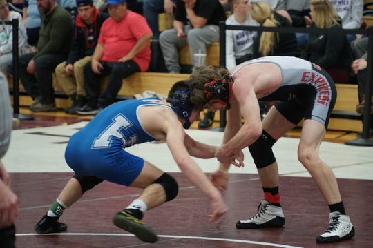 Action from the STAC Wrestling Championships on Friday.