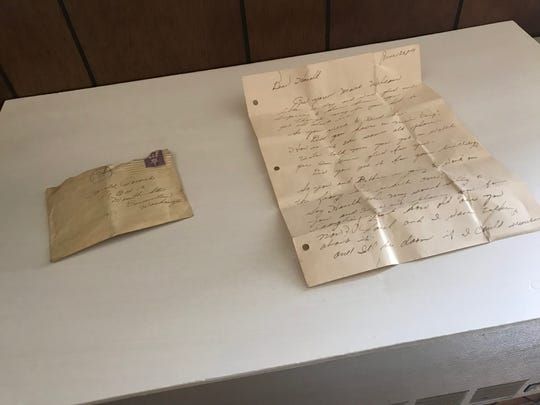 A letter written by Helen Parrish to her brother in June 1944. The letter, along with a journal and photo negatives, were found under a floorboard in the attic of a Bremerton home.