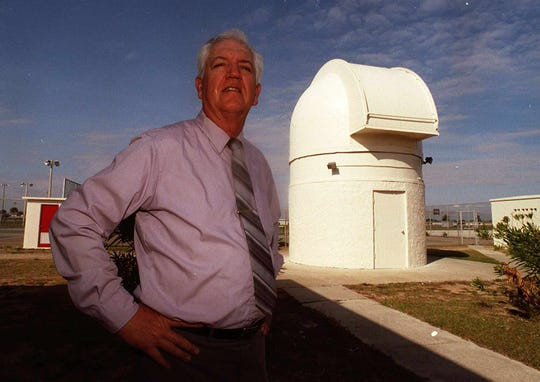 Al Skellett beamed when he talked of his science students' accomplishments. In 1972, he helped establish this observatory on the school's campus.