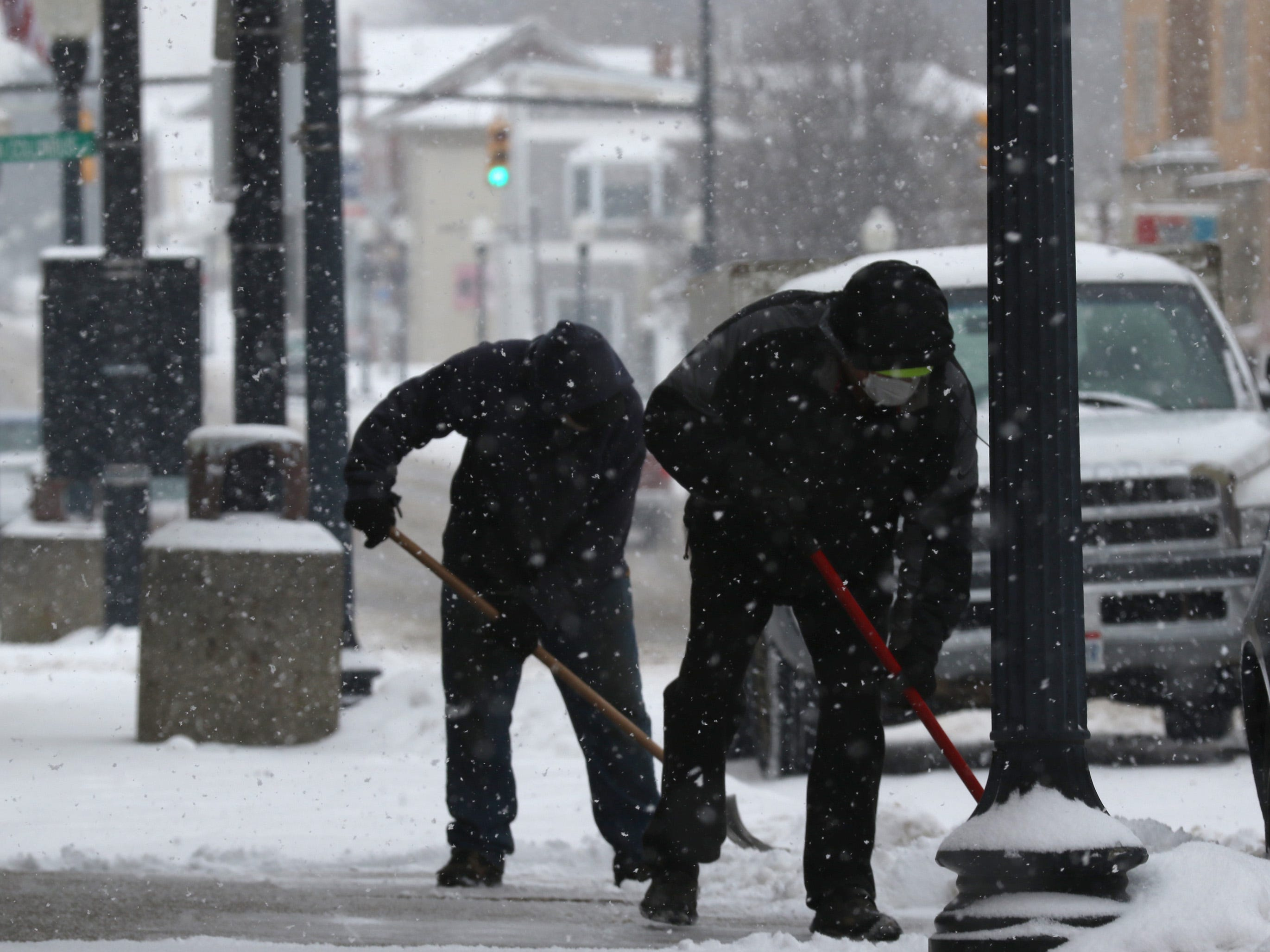 Winter storm Harper dropped several inches of snow in the Crawford County area on Saturday.