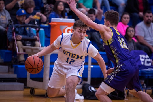 Odem's River Sorrells passes the ball during the basketball game against Aransas Pass on Friday, January 18, 2019. Odem won 48-30.