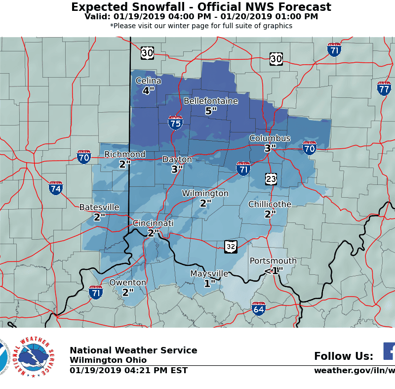 Cincinnati weather: Power outages have begun, 3 to 5 inches of snow expected