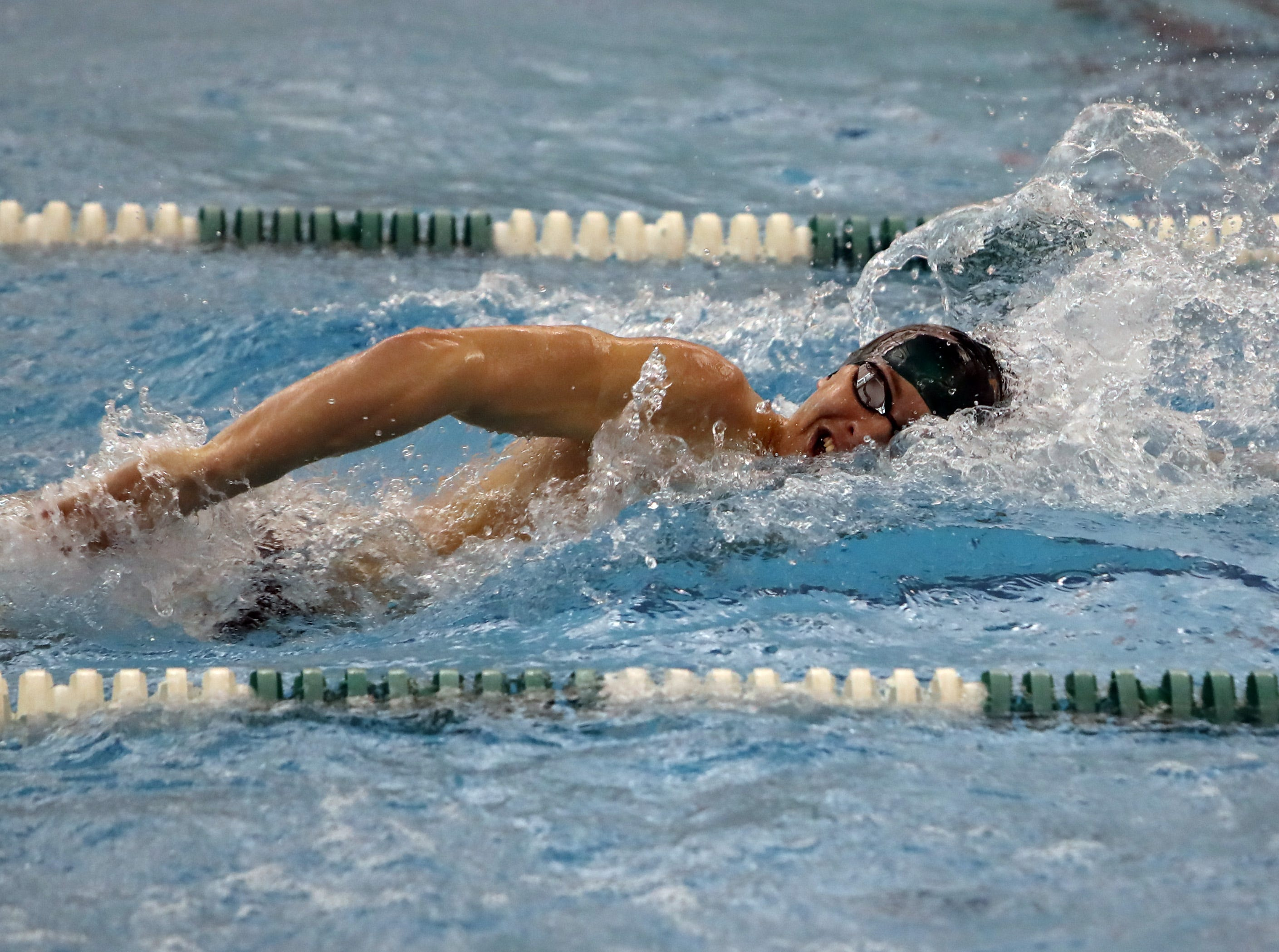 Carson Foster from Sycamore competes in the boys 200 yard freestyle at the Southwest Ohio Swim Classic in Mason, Ohio. Carson finished with a time of 1:37:42.