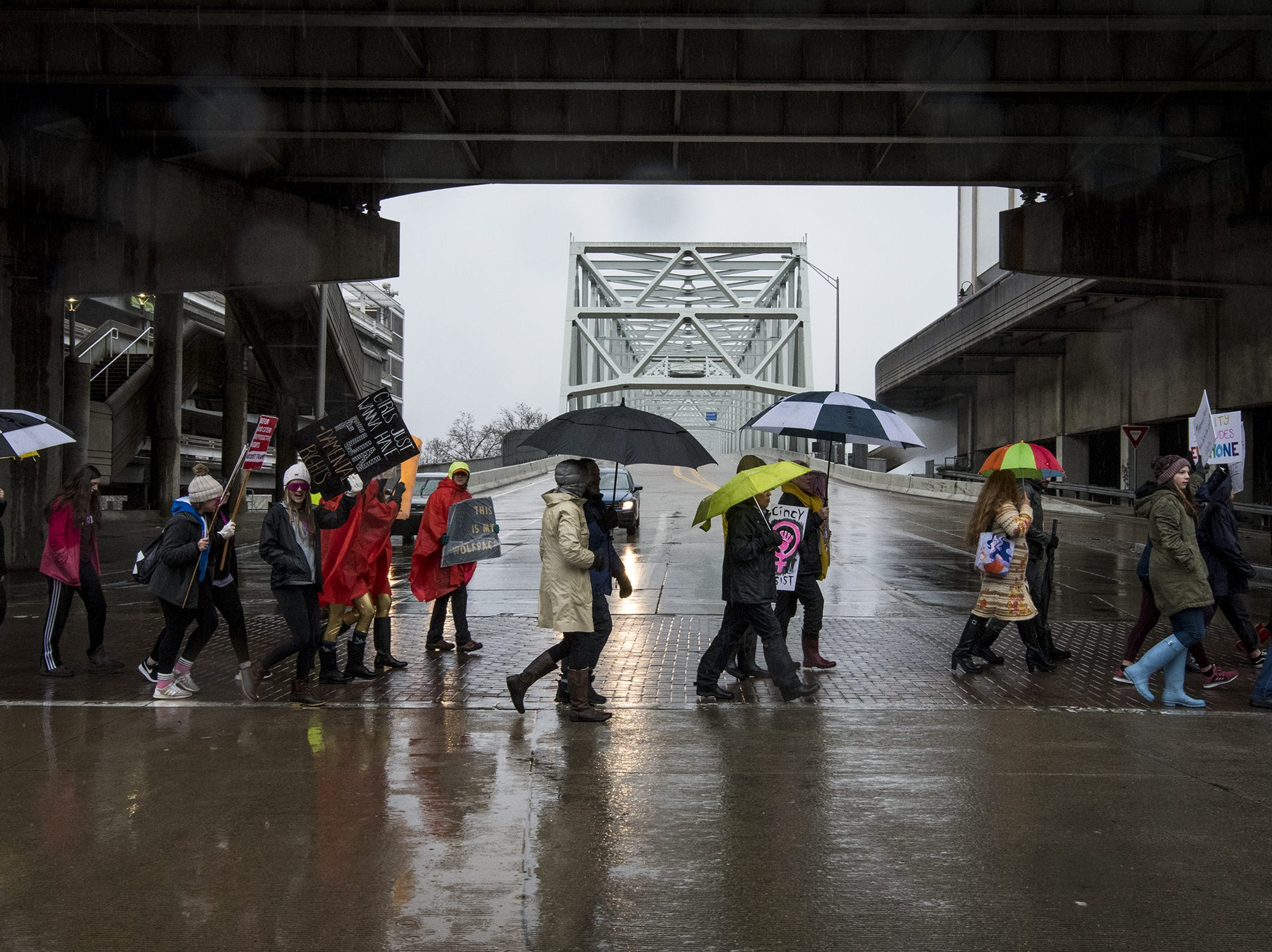Over 100 people took to the streets for the 2019 Women's March organized by the Cincinnati chapters of Socialist Alternative, Democratic Socialists of America and the International Socialist Organization Saturday, January 19, 2019 in Cincinnati, Ohio.