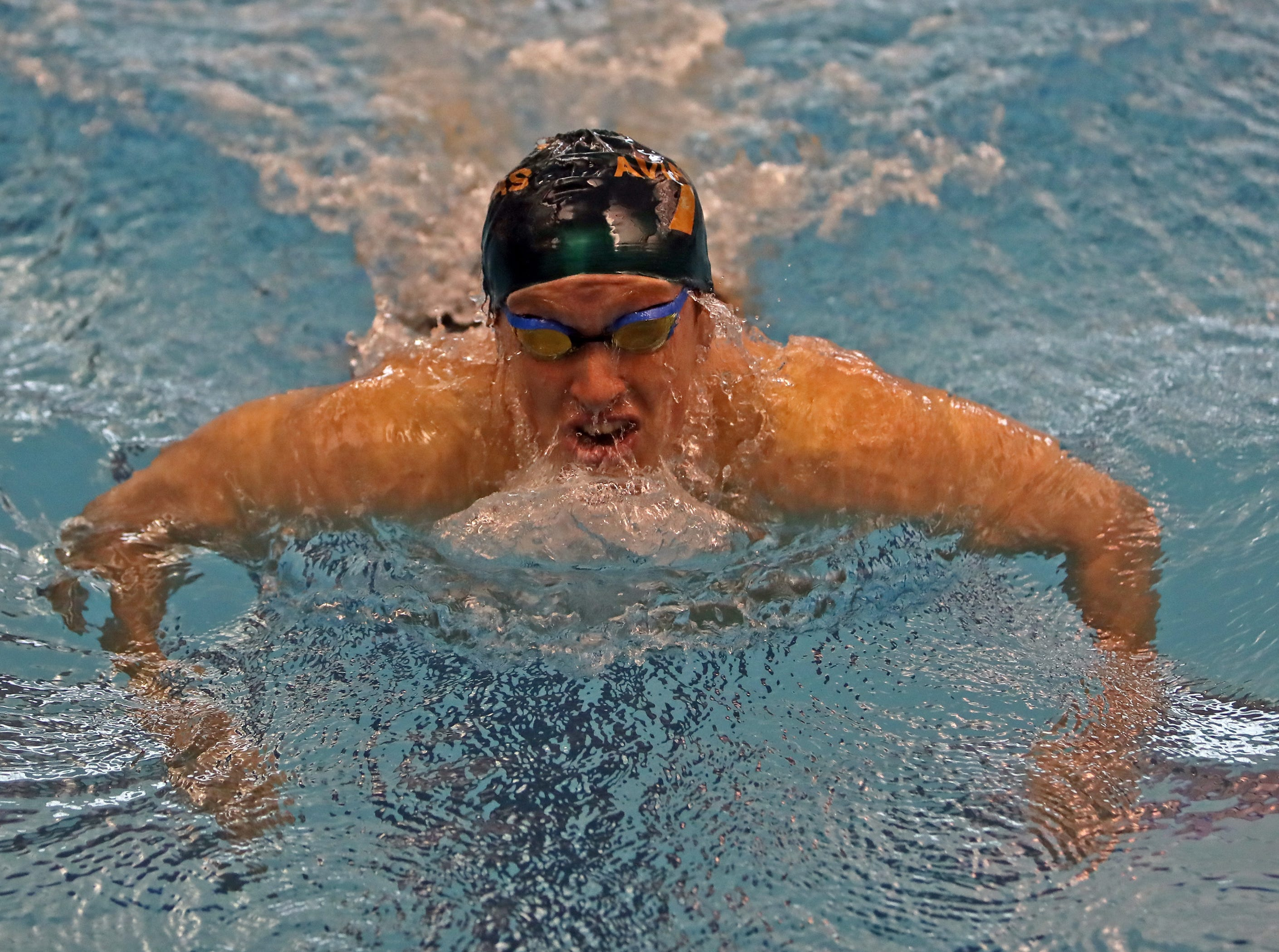 Jake Foster from Sycamore wins his heat of the boys 200-yard breast stroke at the SW Ohio Swim Classic at Mason.