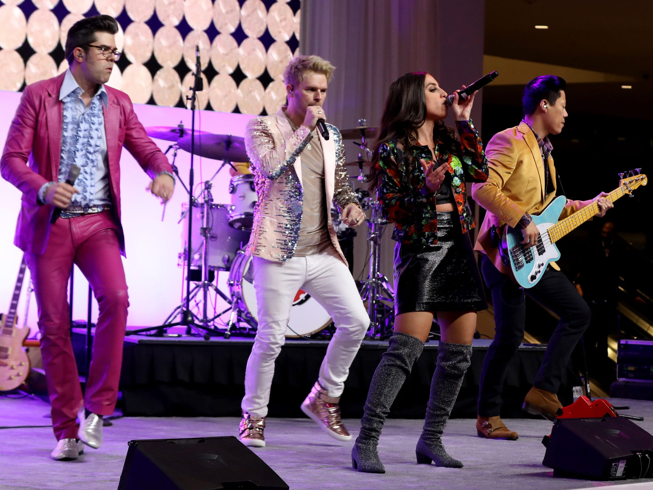 Your Generation performs for the 2019 North American International Auto Show Charity Preview crowd at Cobo Center in Detroit on Friday, January 18, 2019.