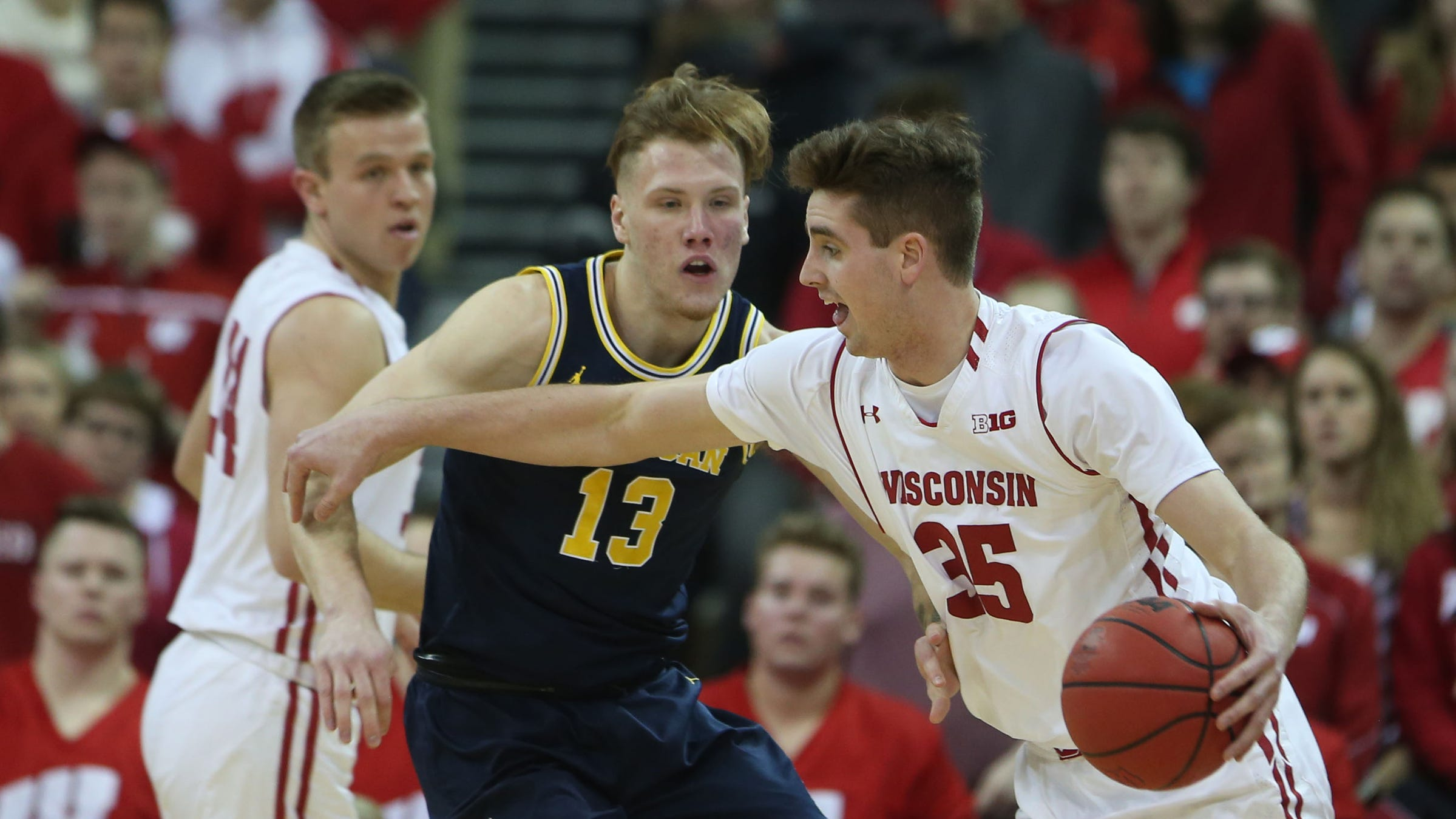 Image result for wisconsin vs michigan basketball 2019