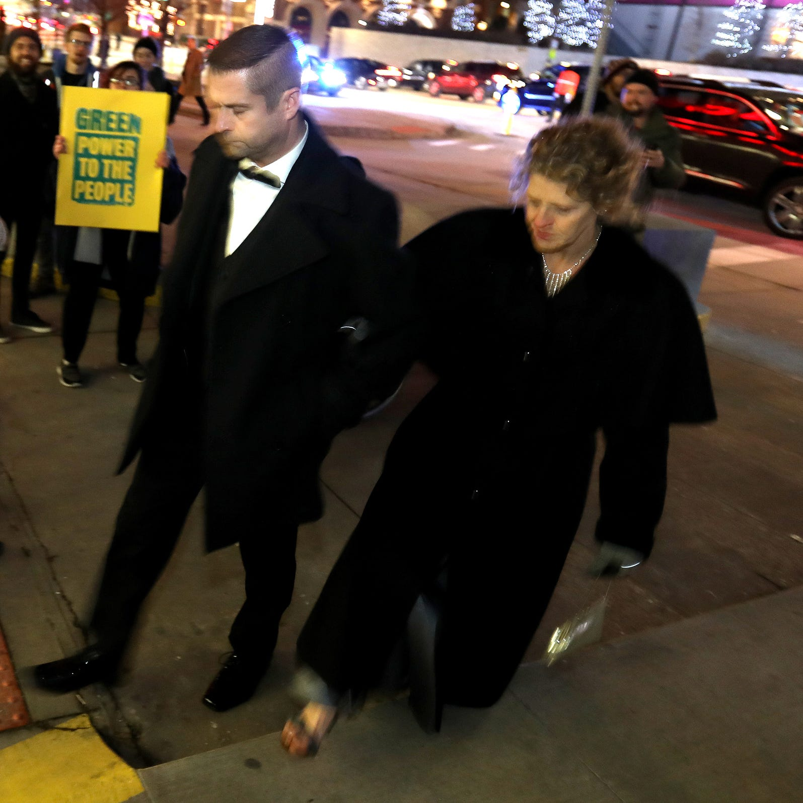 Protests and partying at Detroit auto show charity gala