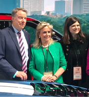 From left: Bill Ford, executive chairman of Ford Motor Co., Congresswoman Debbie Dingell, Congresswoman Haley Stevens. Dingell praised the recent hire of Ford's new head of global government affairs.