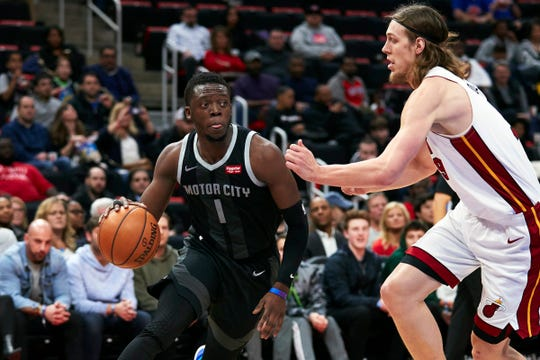 Reggie Jackson dribbles against Miami's Kelly Olynyk on Jan. 18.