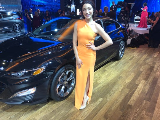 Olympic champion Meryl Davis at the NAIAS Charity Preview.