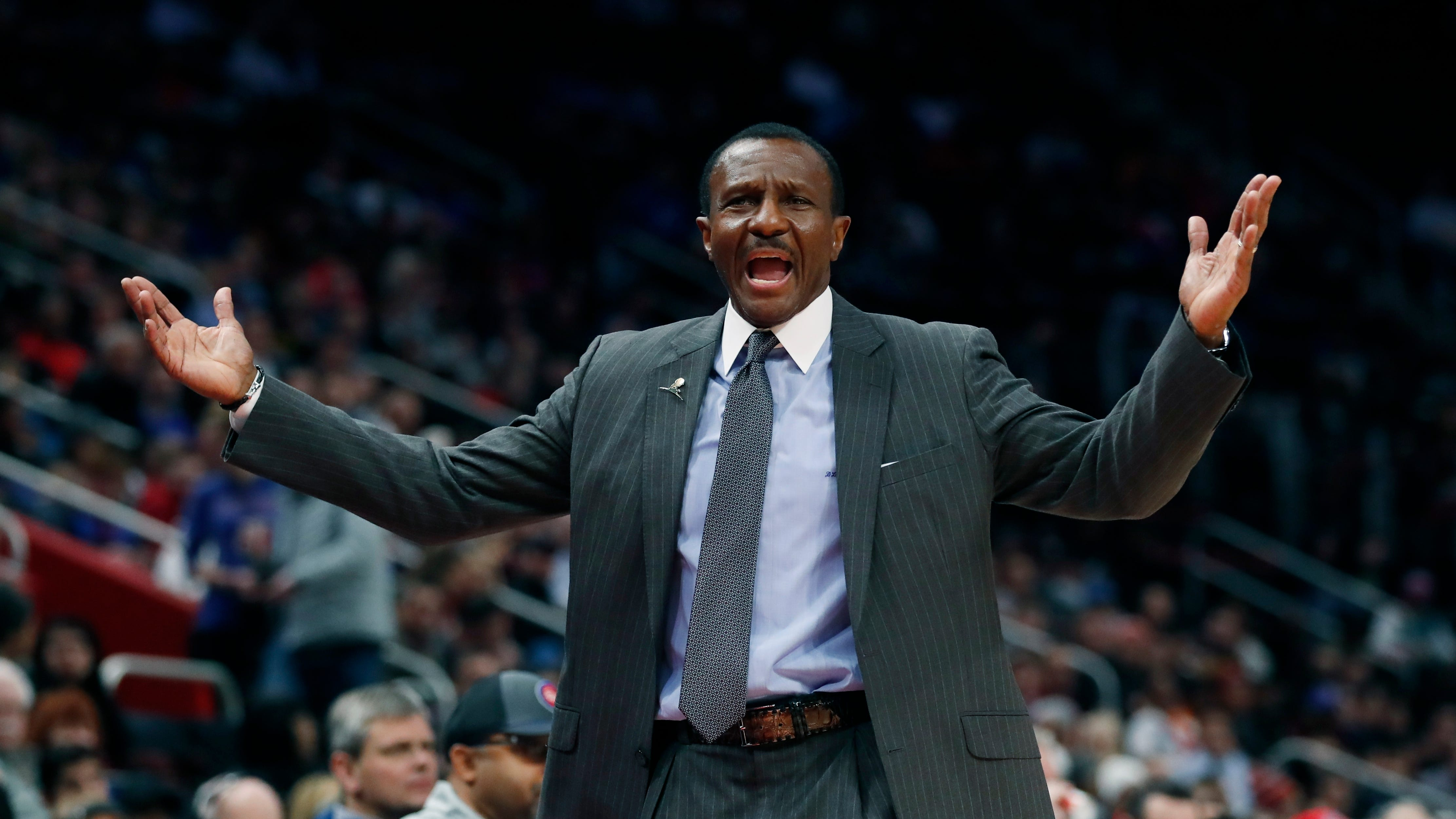 """""""You never feel good. I wouldn't use that word, but this is where we have to make hay,"""" Pistons coach Dwane Casey says."""