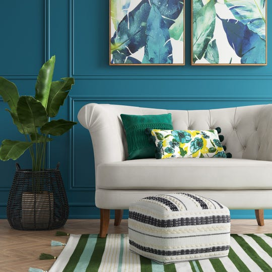 These pieces from Opalhouse   show a mix of neutrals, colors and decorative details that are among the current trends.
