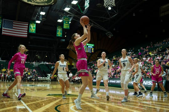 CSU guard Lore Devos, shown in a file photo, led the Rams with 19 points in CSU's 70-57 loss at Boise State on Wednesday.