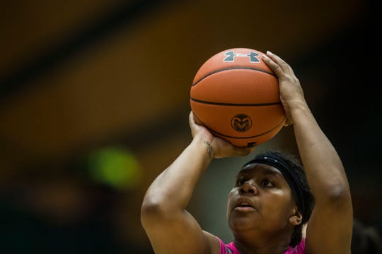 CSU guard Grace Colaivalu, shown in a file photo, had the game-tying bucket to send the Rams to overtime against Boise State on Wednesday. CSU lost in overtime.