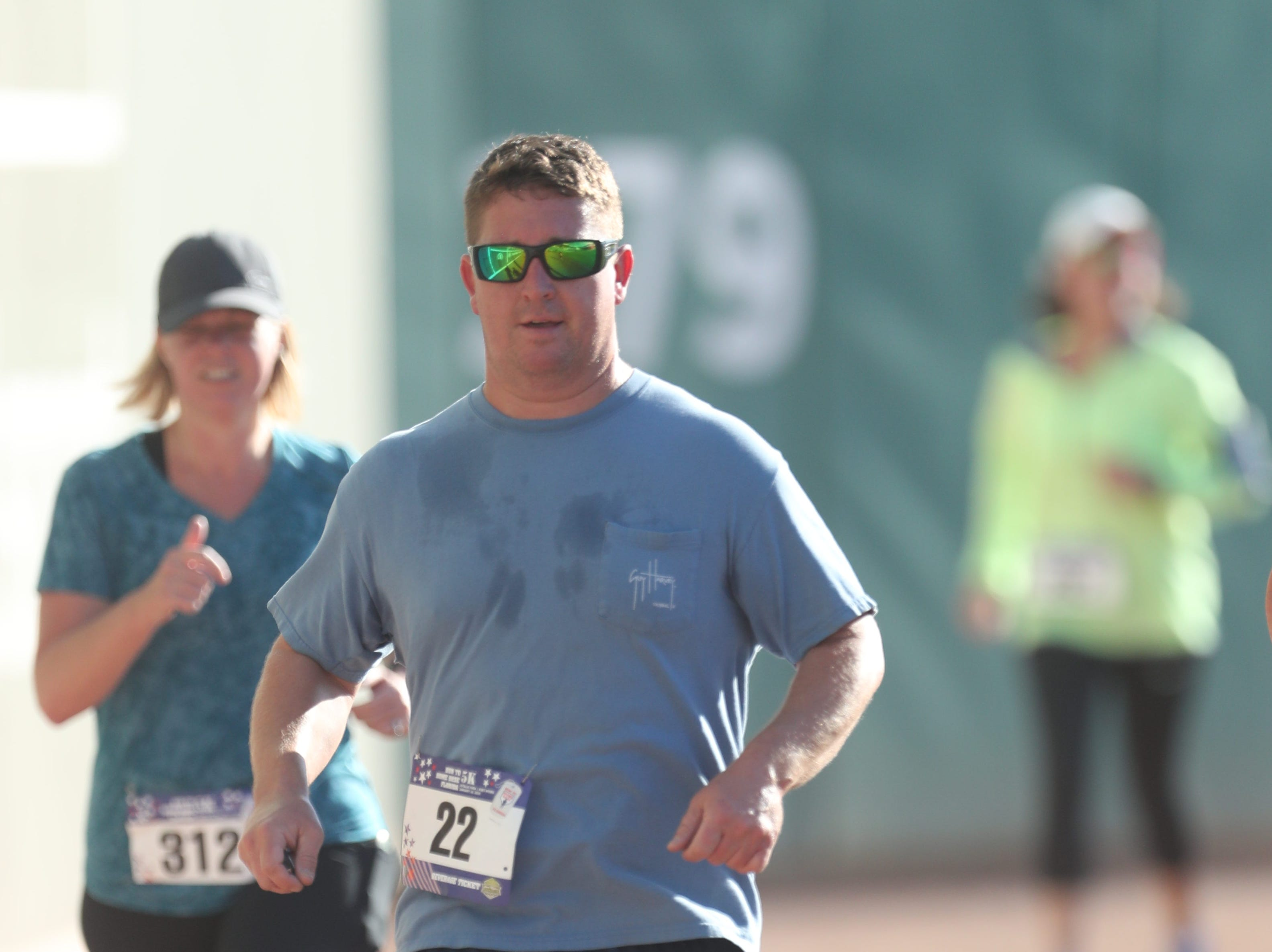 Hundreds of runners and walkers supported the Run to Home Base Florida event on Saturday at JetBlue Park at Fenway South in Fort Myers. The annual race honors and supports Southwest Florida Veterans and their Families. All proceeds go directly to Home Base's Southwest Florida initiatives, including our Warrior Health and Fitness Program and the two-week Intensive Clinical Program.