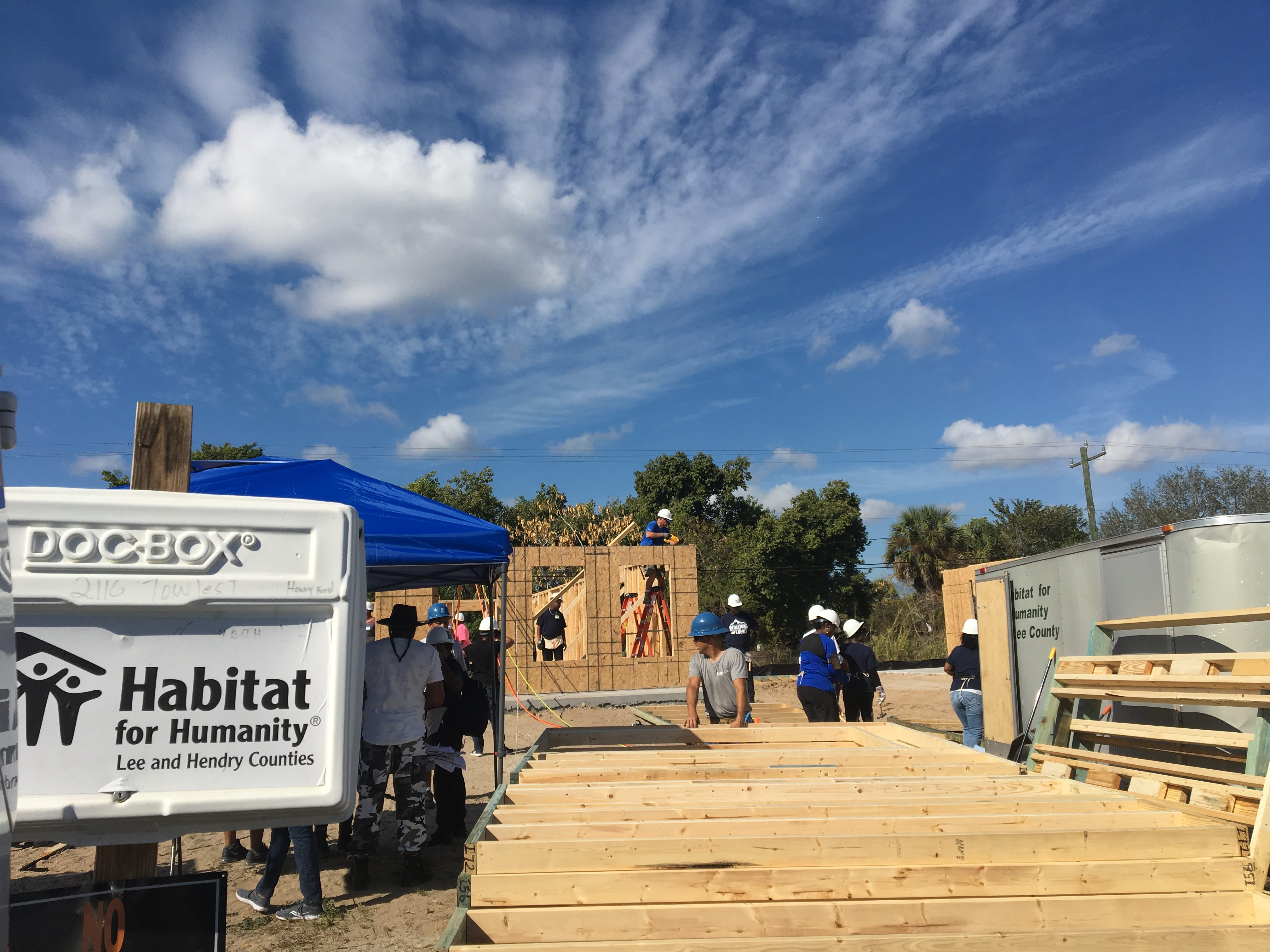 Volunteers helped build two Habitat for Humanity homes in Fort Myers Saturday, Jan. 19, 2019.