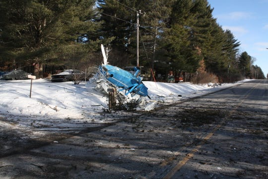 The pilot and three passengers sustained non-life-threatening injuries in this crash, which happened in Menominee County Saturday morning.