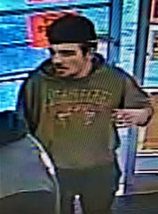 Police are seeking the man pictured in surveilance footage after he tried to rob a Greenville Family Dollar.