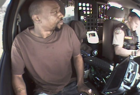 Travious Smith was traveling in a rental car with North Carolina plates when a deputy stopped him for allegedly following too closely. His $6,260 was seized. The case is pending. This is an image taken from provided dashcam footage.