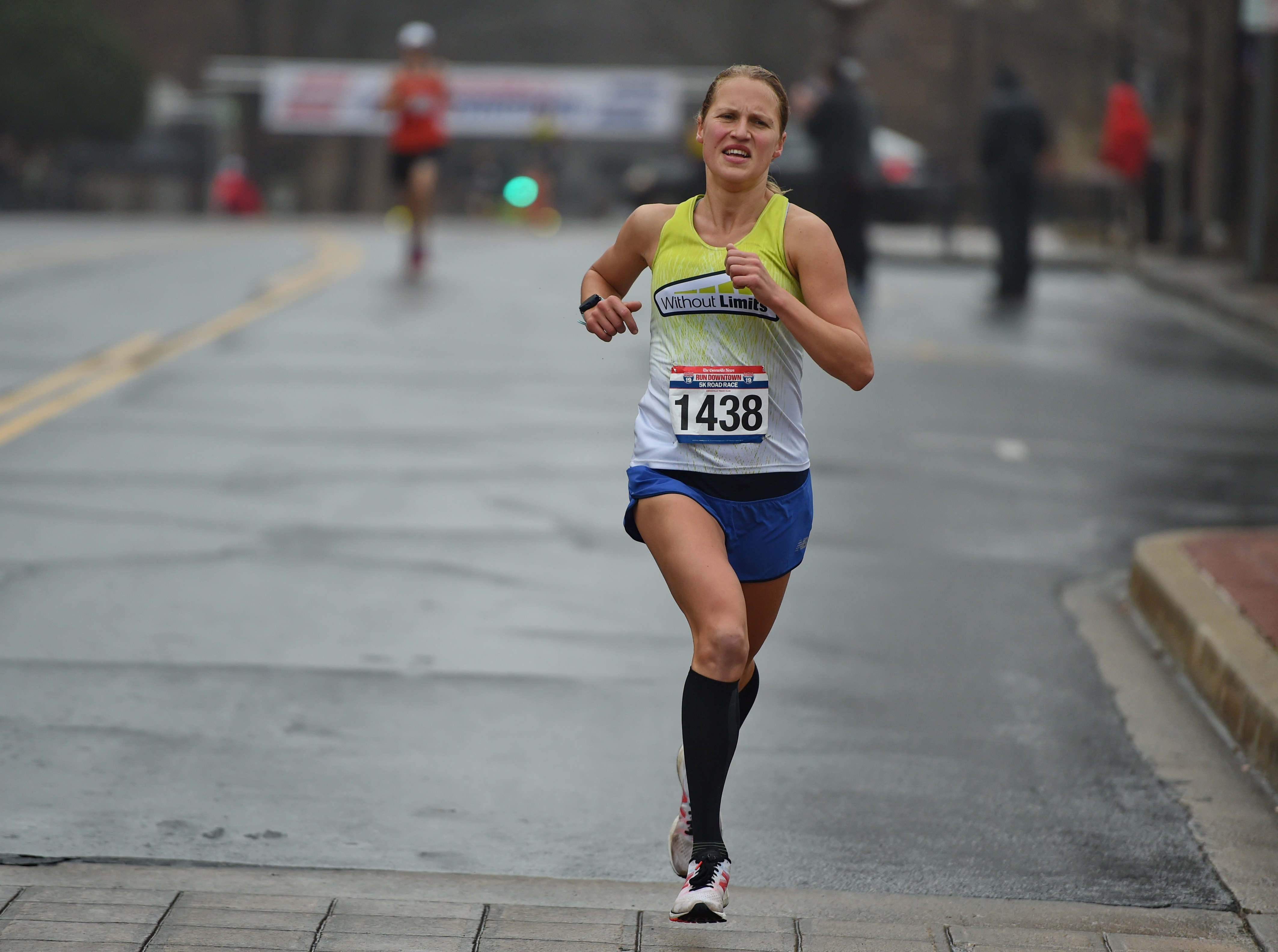 Alyssa Bloomquist won the women's division with a time of 17:20. The annual Greenville News Run Downtown 5K was held Saturday, Jan. 19, 2019.