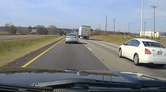Dash cam still from a traffic stop in Cherokee County, South Carolina. When police find drugs in a car, which isn't that unusual during a day of highway traffic stops, they are within their rights to seize the vehicle under certain conditions.