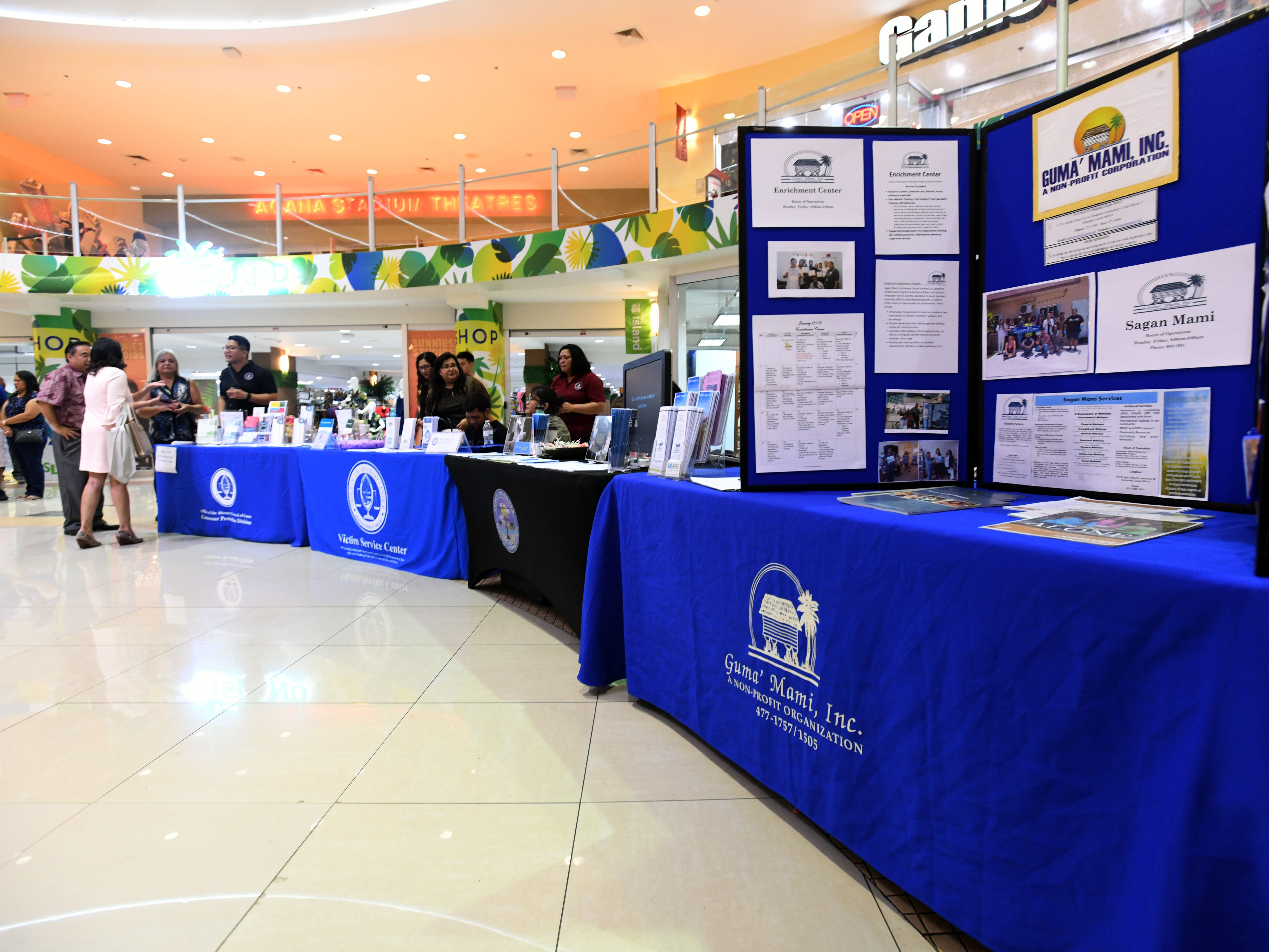 The National Slavery and Human Trafficking Prevention Month and National Stalking Awareness Month Outreach Fair was held at the Agana Shopping Center on Saturday, Jan. 19, 2019.