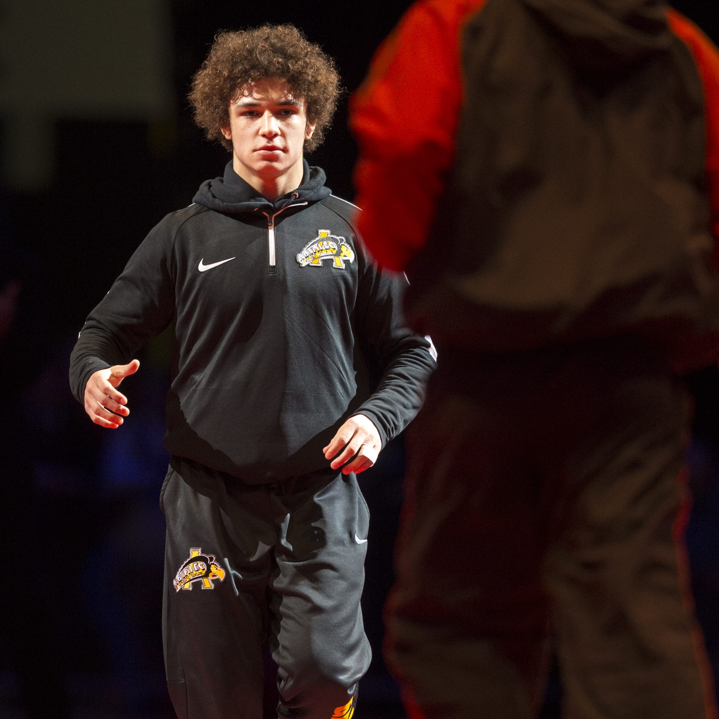 FILE – Avon's Asa Garcia was one of seven Orioles wrestlers to win conference titles on Friday night, but Brownsburg captured the team title.